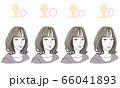 顔型別ヘアスタイル 66041893