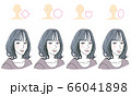 顔型別ヘアスタイル 66041898