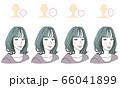 顔型別ヘアスタイル 66041899