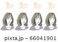 顔型別ヘアスタイル 66041901