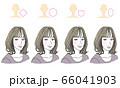 顔型別ヘアスタイル 66041903
