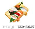 寿司盛り合わせ、寿司下駄 66043685