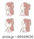 女性の横顔の表情イラスト 66049636
