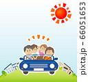 家族でオープンカーに乗ってドライブのイラストイメージ 66051653