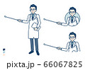 simple Doctor old man_pointing-stick-B 66067825