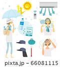 熱中症対策,夏,女性,イラスト, 66081115
