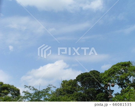 初夏の青空と白い雲 66081535