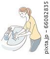 手を洗う女性 66082835