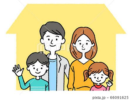 マイホームと4人家族 66091625