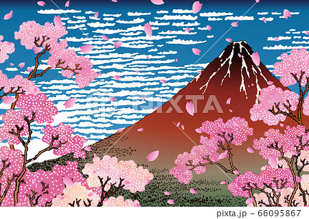 凱風快晴 桜&花びらバージョン 66095867