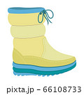 Winter warm boot icon, flat style 66108733