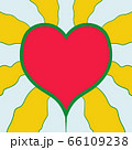 Heart of Jesus irradiating love energy in doodle style. Simple decorative design elements. Book page or cover design. 66109238