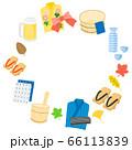 浴衣や風呂桶の温泉旅行フレーム 66113839