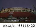 照明が消えた深夜のカープ本拠地 Mazda Zoom-Zoom スタジアム広島(マツダスタジアム) 66118422