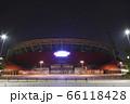夜のカープ本拠地 Mazda Zoom-Zoom スタジアム広島(マツダスタジアム)正面 66118428