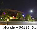 夜のカープ本拠地 Mazda Zoom-Zoom スタジアム広島(マツダスタジアム)正面 66118431