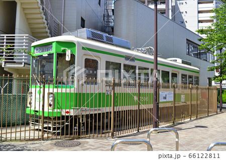 台東区池之端児童遊園にある都電7500形の展示車両 66122811