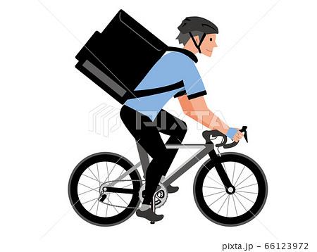 自転車 配達 デリバリー 66123972