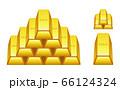 金塊のイラストイメージ 66124324