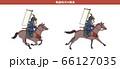 日本戦国時代の騎馬-横姿 66127035