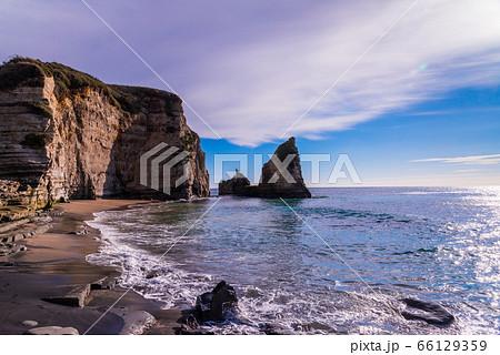 (千葉県)御宿大波月海岸のロウソク岩 66129359