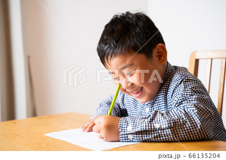 男の子 宿題 勉強 66135204
