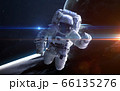 Astronaut in outer space 66135276