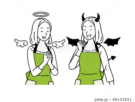 天使と悪魔のセット 66135631