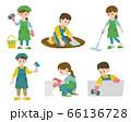 イラスト 掃除をする人 66136728