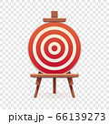 Arch target icon, cartoon style 66139273