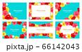 ハイビスカス 背景 カード フレーム 夏 イラストセット 66142043