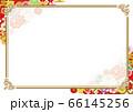 豪華で美しい和柄フレーム03 66145256