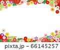 豪華で美しい和柄フレーム01 66145257