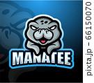 Manatee mascot esport logo design 66150070