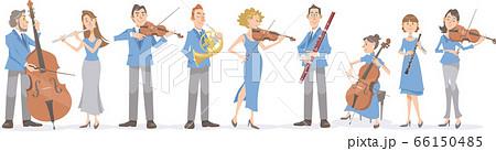 楽器を演奏するミュージシャンたち。クラシック演奏家のイメージ。 66150485