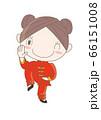 太極拳・ポーズをとる女性 66151008