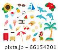 夏 バカンス 旅行 アイコン セット 66154201