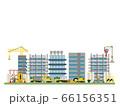ビルを建築している工事現場イラスト 66156351