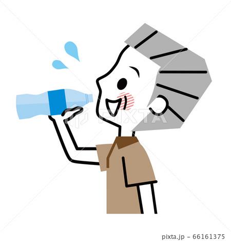 シニア男性 水分補給 経口補水液 66161375