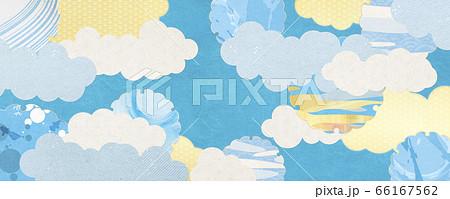 和風背景素材-夏イメージ-清涼感のある和柄 66167562