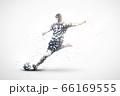 football abstract silhouette 1 vector ver. 66169555