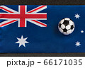 Flag of Commonwealth of Australia close up and 66171035
