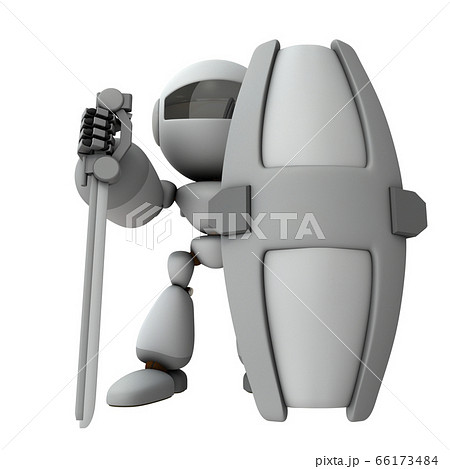 立ちはだかるガードロボット 66173484