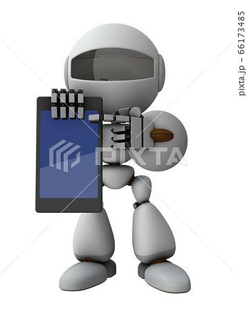 タブレット端末でインフォメーションを提示する人工知能のロボット 66173485