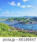 尾道大橋 水彩風イラスト 66186647
