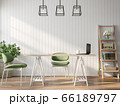 Vintage style working room 3d render 66189797