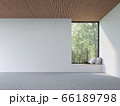 Mininal contemporary style empty room 3d render 66189798