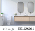 Minimal comtemporary style bathroom 3d render 66189801