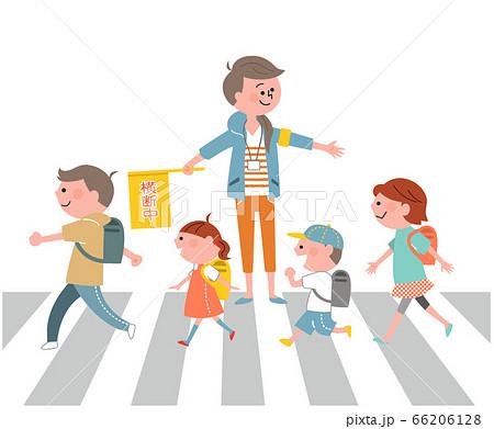 登下校 横断歩道 交通安全 66206128