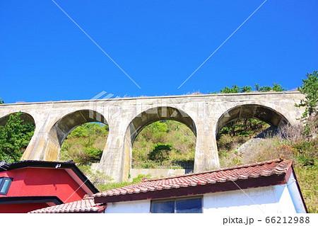 北海道 旧戸井線コンクリートアーチ橋 66212988